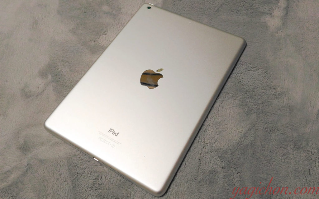 iPad Airの裏面画像。